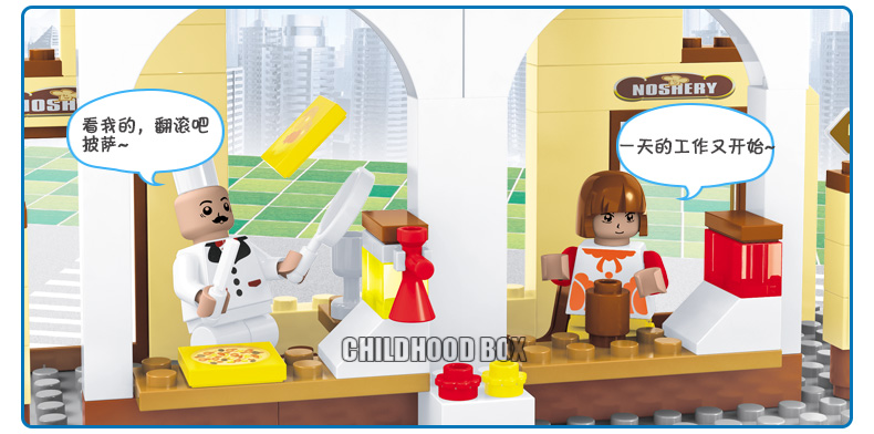 Original City Casual Restaurant Kitchen Desk Motorcycle Cars Building Blocks Bricks Compatible Lepin With Minifig Action Figure