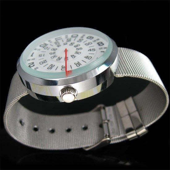 wholesale News MENS Three Circle Stainless Quartz Wrist Watch freeship(China (Mainland))