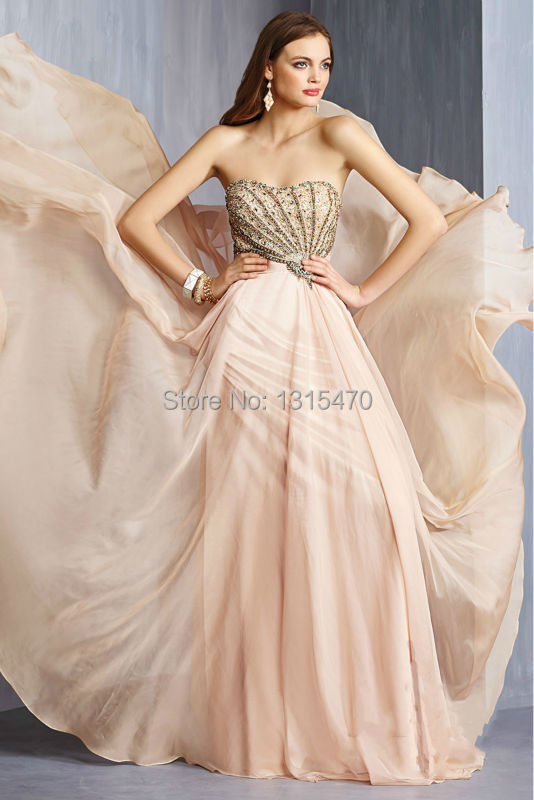 2016 free shipping New Fashion Heavily Beaded Asymmetrical Bodice Chiffon Evening Dress Formal Dress Party Gown prom dress(China (Mainland))