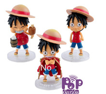 New Arrival High Quality Japanese Anime Figures One Piece Luffy PVC Action figures 3pcs/set
