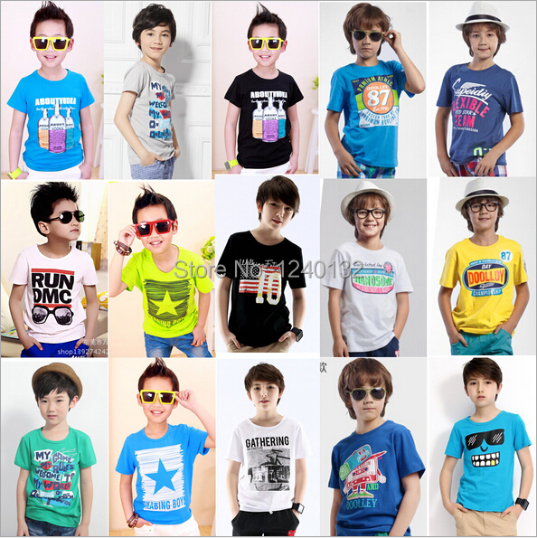 In Stock 2014 Frozen T-Shirt Short Sleeve Children Summer Clothes Boys Girls Cotton Plain Tee Top 6 Colors New Hot 5pcs/lot(China (Mainland))