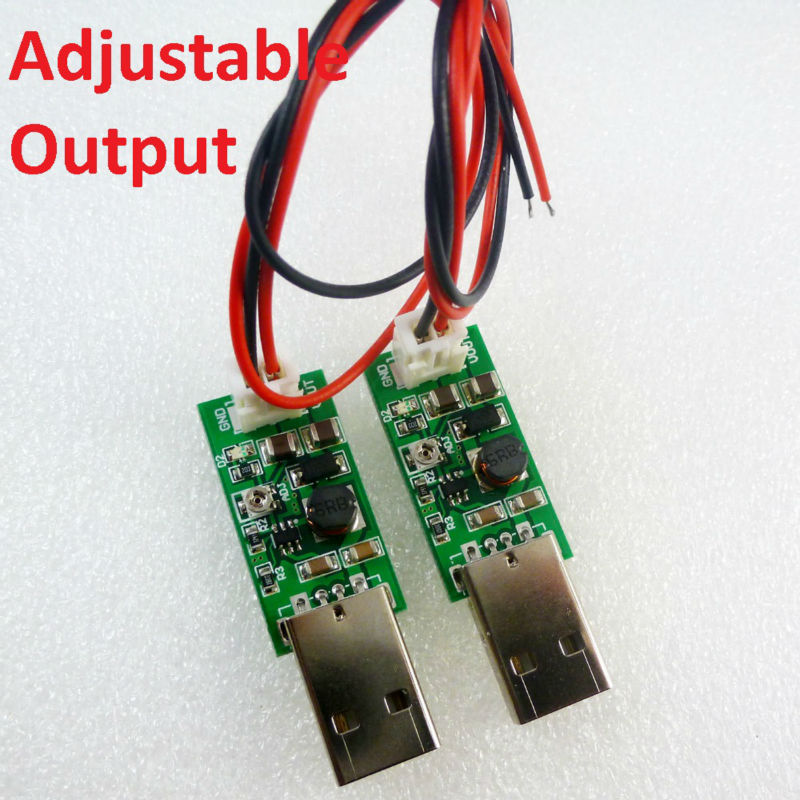2x DC DC Converter USB 5V to HX2.54 6V-15V Adjustable Output Step-Up Boost Voltage conversion Module for Portable mobile power(China (Mainland))