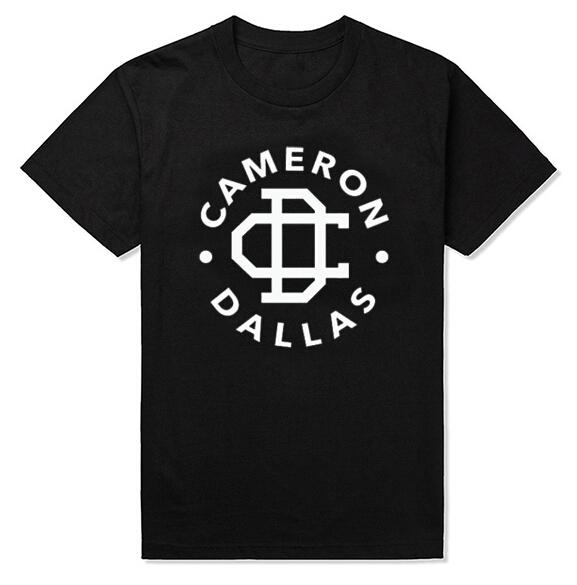 Free shipping CAMERON DALLAS cotton leisure T-shirt man tshirt euro size short sleeve O neck t-shirts wholesale crime(China (Mainland))
