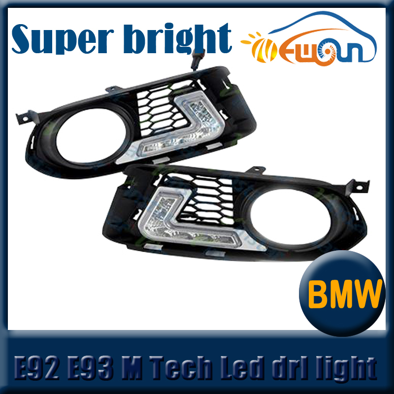 12V auto front bumper led drl day light for BMW 3 series E92 E93 M Tech LED High light car LED daytime running lights(China (Mainland))