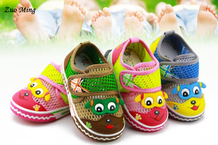 2015 New arrived Summer breathable children shoes Cartoon comfort network torx male female child sport 3 style - Zuo Ming department store