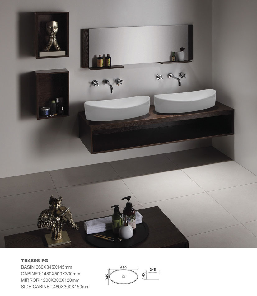 MDF bathroom cabinet bathroom vanity Bathroom furniture hotel bathroom vanity ceramic sink(China (Mainland))