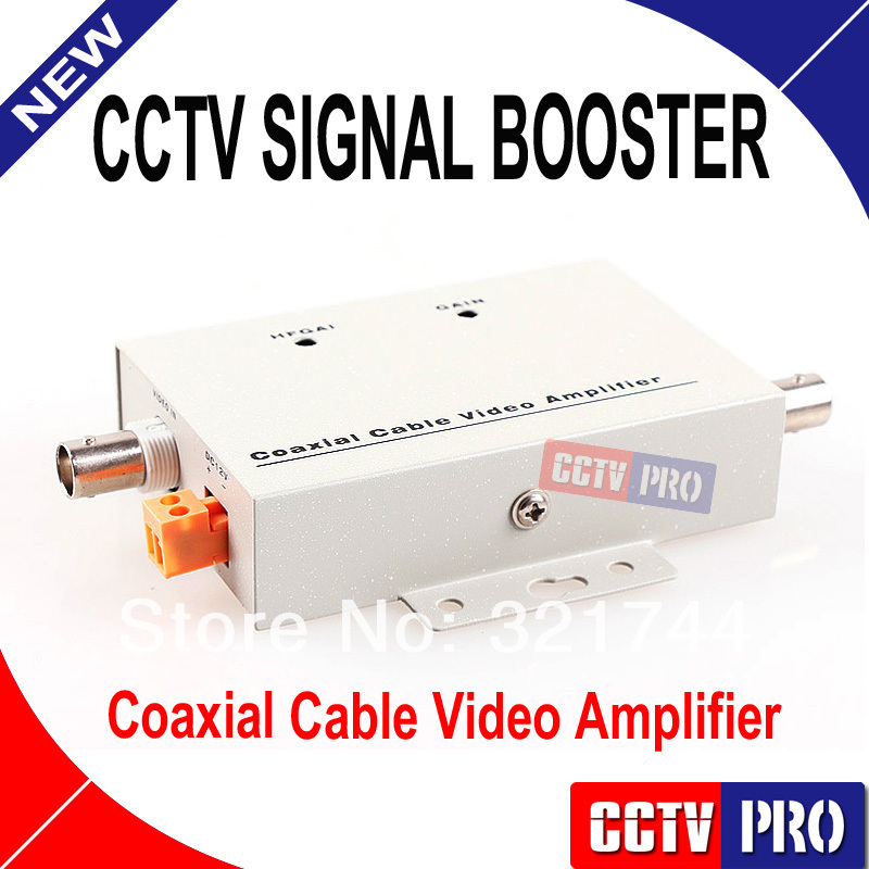 Coaxial Cable Video Amplifier CCTV Signal Booster BNC Balun Connectors(China (Mainland))