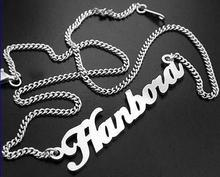 Handmade sterling silver jewelry 925 silver name necklaces & pendants letter necklace Valentine's Day Mother's Day birthday gift(China (Mainland))