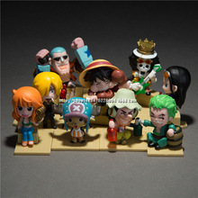 Free Shipping Anime Cartoon One Piece 2 Years Later The New World PVC Action Figure Model Toys Dolls 9pcs/set