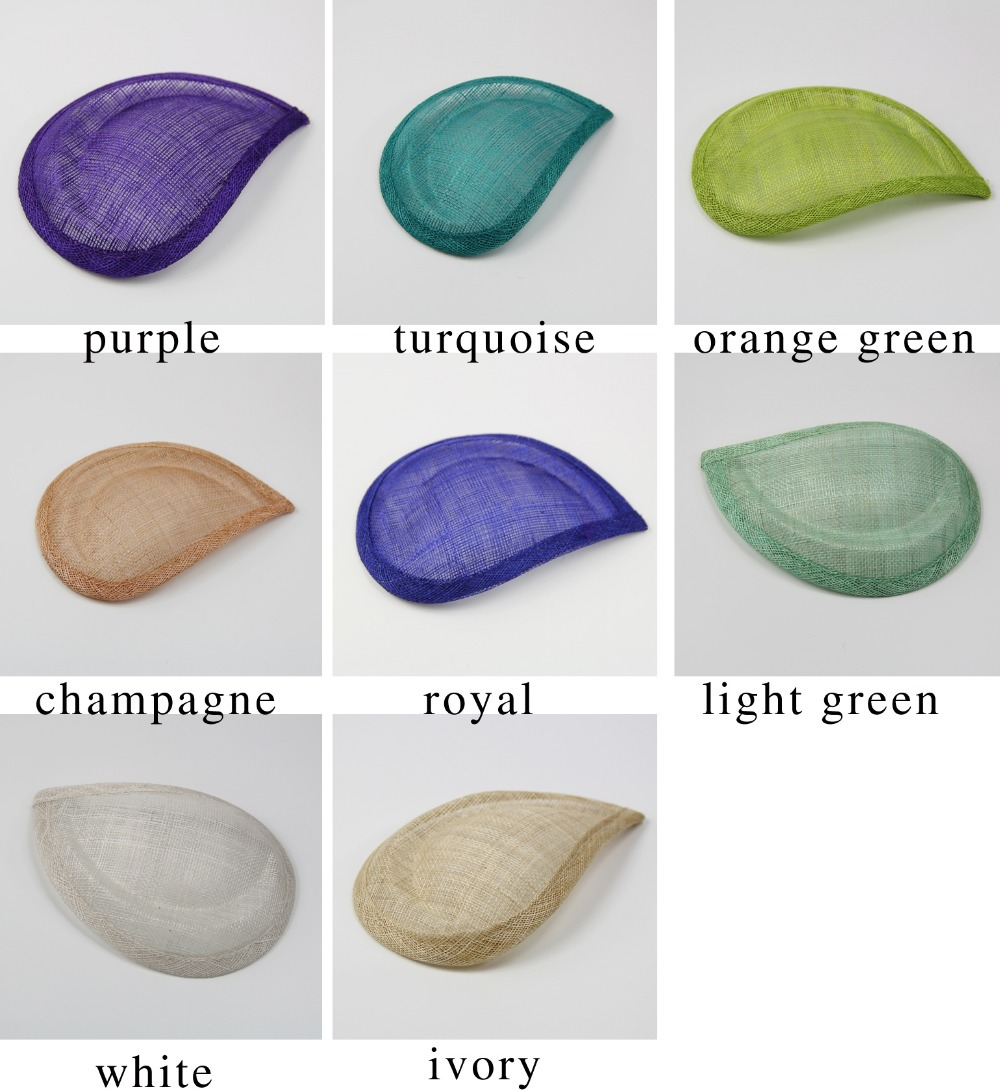 FREE SHIPPING 8 colors Sinamay fascinator Base hat for fascinator diy, 12pcs/lot(China (Mainland))