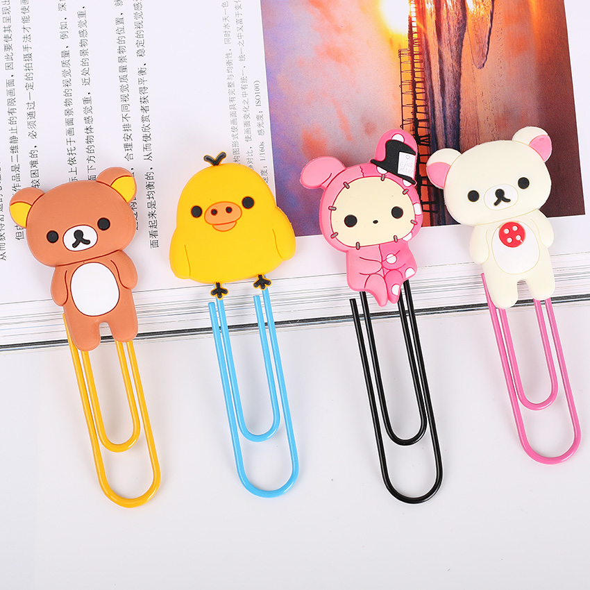 1 Pcs Metal Paper Clip Cute Bear Metal Bookmarks Stationery Office Accessories School Decoration Supplies(China (Mainland))