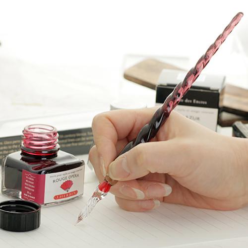 Ручка писаря J-herbin-Large-handmade-crystal-glass-pen-birthday-gift