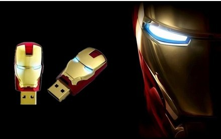 2015 Wholesale Hot sale Fashion USB Flash drive Avengers Iron Man pen drive LED Flash 8g 16g 32gUSB Flash 2.0 Memory Drive Stick(China (Mainland))