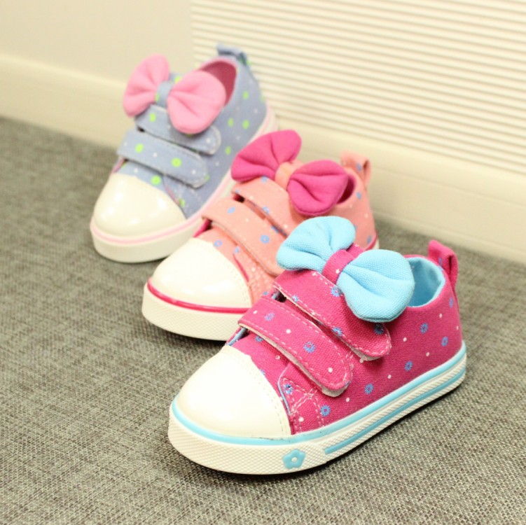 Kids Shoes Rushed Breathable 2015 Spring New Korean Girls Canvas Shoes To Help Low Bow Manufacturers, Accusing 21--25 Children(China (Mainland))