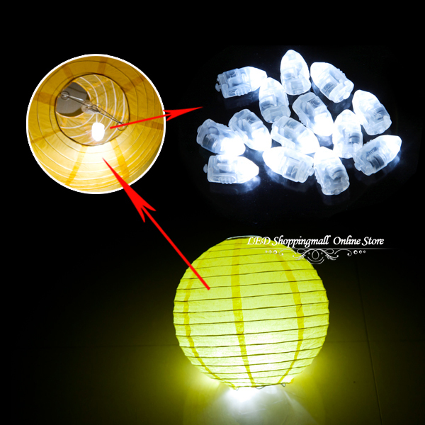 Freeshipping 100pcs/lot LED ballon light,white Balloon lamp for Paper Lantern Balloon wedding party decoration(China (Mainland))