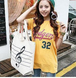 new handbag Korean version of casual women canvas shoulder bag reusable shopping bags trade buying in C(China (Mainland))