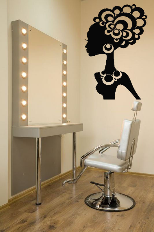 Salon sticker beauty decal hair barber shop sexy girl - Poster para decorar paredes ...