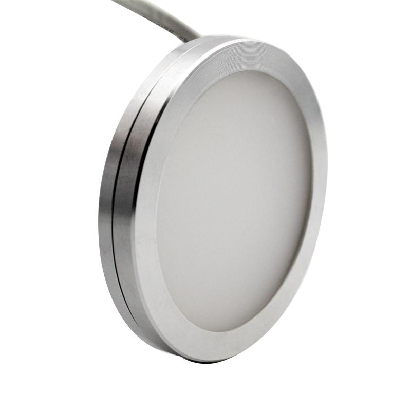 dimmable 12v dc 2 5w led under cabinet lighting puck light for