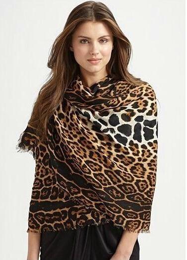 Леопарда саржевого хлопка шарф осенью и зимой шарф женщина в европе и америке звезда моделей толстые теплые шали