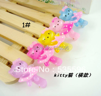 Fashion Lovely New Kids/Girl/Princess/Baby  KT Cat Acrylic Metal Hair clip Barrettes Hairpins  Hair Accessories Free Shipping