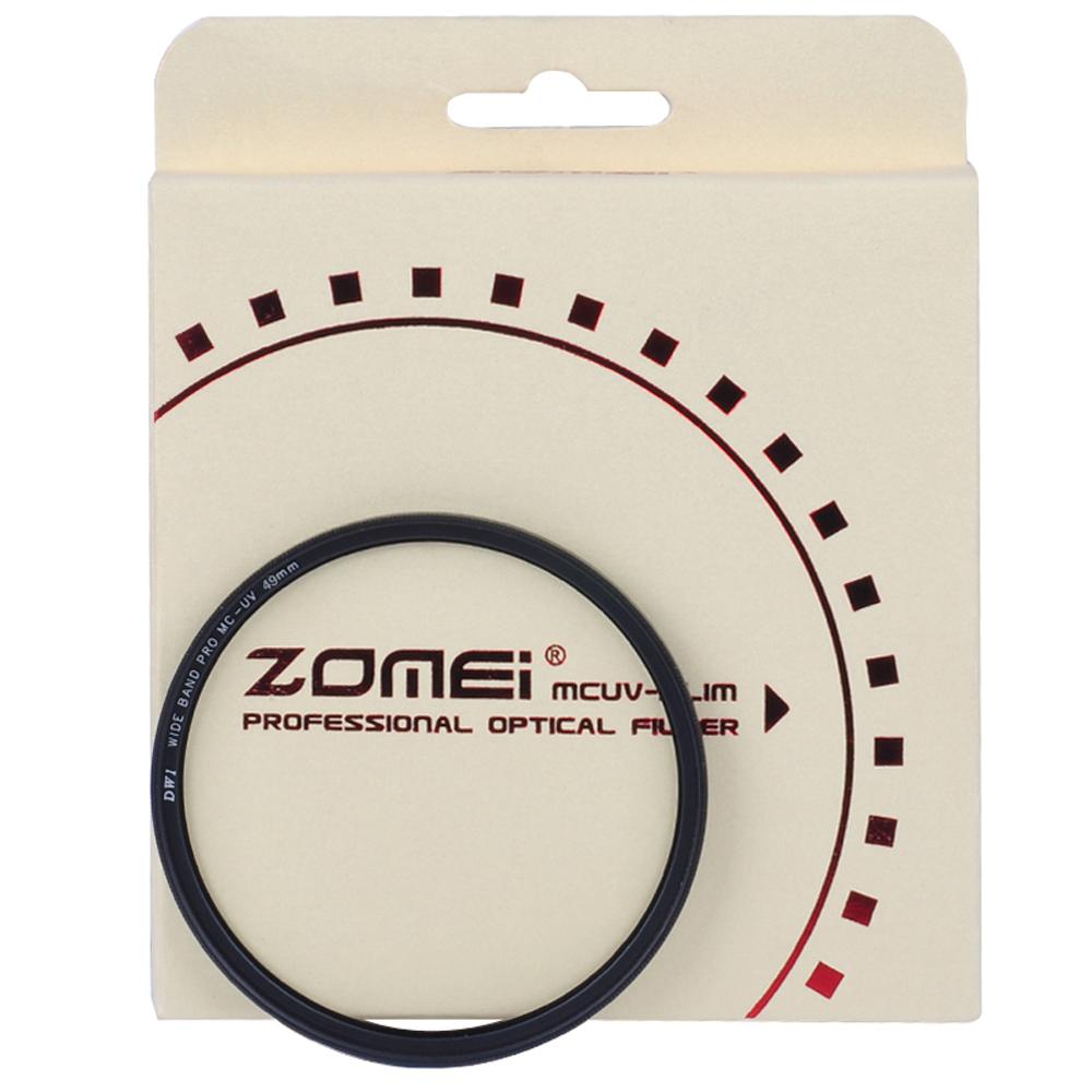 Zomei 49mm Ultra Slim Multi-Coated AGC Optical Glass Ultra Violet MC-UV Lens Filter(China (Mainland))