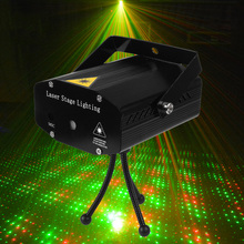 Portable Mini Led Projector DJ Disco Light Red And Green Music Stage Lights Xmas Party Wedding Club Show Laser Lighting(China (Mainland))