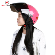 Hot Sale Half Face Femal Women's Motorcycle Motorbike Helmet Cycling Riding Protective Helmet with Removable Neck Warmer(China (Mainland))