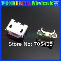 100pcs/lot Micro 5pin usb connector charging connector Type B connector DIP four feet for repair mobile phone