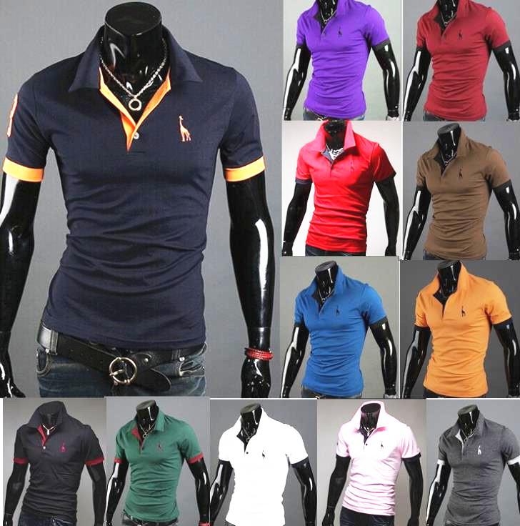 Hot money short sleeve T-shirt Men's clothing the fawn embroidery short sleeve T-shirt(China (Mainland))