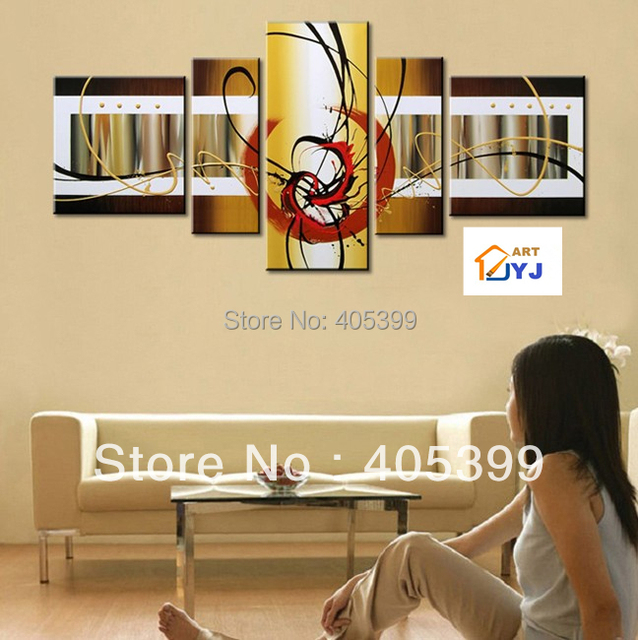 Free Shipping !! The Gold World! ! Huge  Real Handmade Modern  Oil Painting On Canvas Wall Art ,Z064