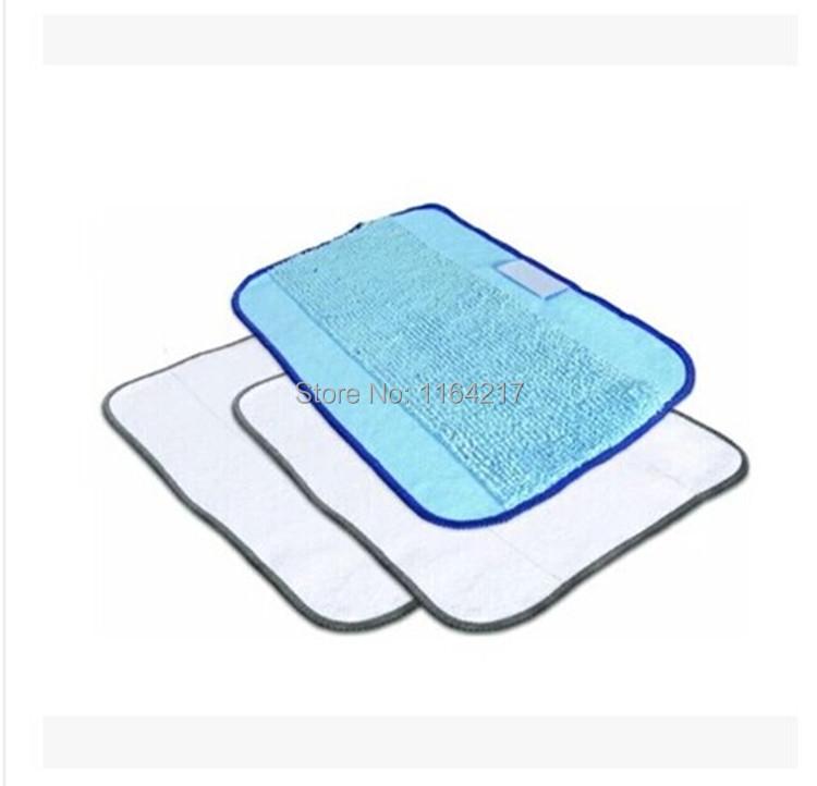 3pcs/Lot Mixed Microfiber Mopping Cloths wet mop+2 dry mop for iRobot Braava 380 380t 320 Mint 4200 4205 5200 5200C Robot(China (Mainland))