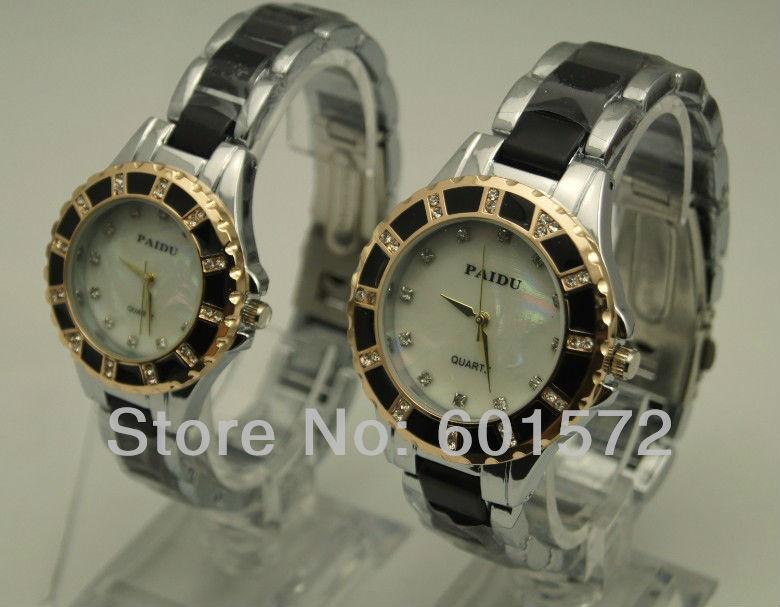 freeshipping 30pcs/lot paidu alloy metal band crystal design men/women size fashion watch watch,PC21 quartz movement from Japan(China (Mainland))