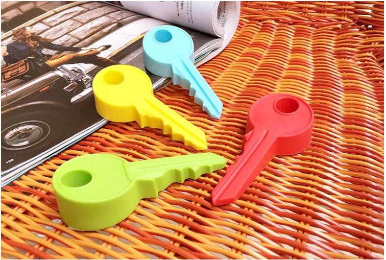 5pcslot Creative siliconekey modelling door stops thicken door Holder Lock Safety Guard Finger Protectionfor Kids Baby_8