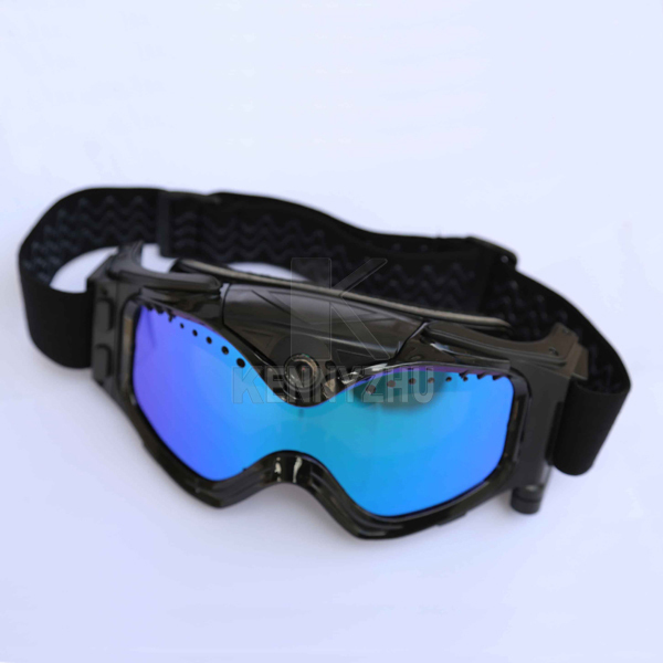HD 720P Video Camera Snow Skiing Goggles Eyewear Double  AntiFog  Blue Lens + Moto Goggles With Rechargeable Battery