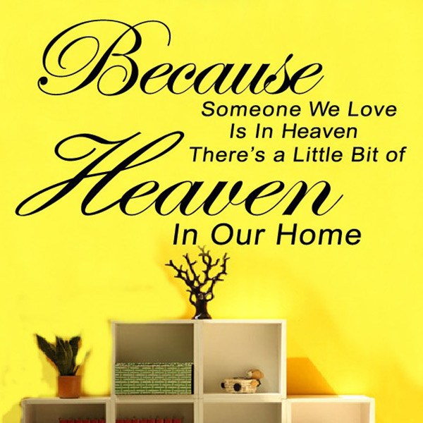 Simple Encourage Because Someone We Love In Heaven Home Room Decor Wall Sticker Removable Art Decal