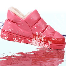 Women winter snow boots, warm flat and waterproof boots for winter size 36-43,free shipping(China (Mainland))
