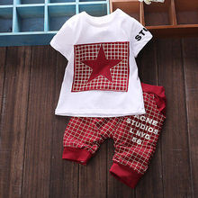 Fashion Baby Boy Kid Short Sleeve Shirt Sportswear Top Short Pant Outfit(China (Mainland))