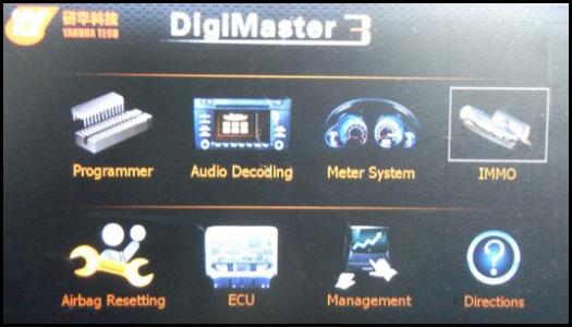 digimaster iii function menu