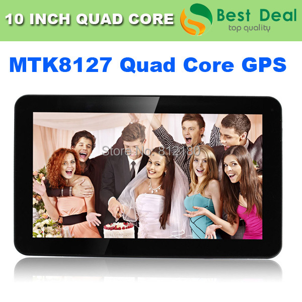 10 inch Quad Core 1G/8G 5000MAH GPS Android 4.4 KitKat Tablet PC MTK8127 Bluetooth HDMI FM Google Play Skype+Gifts(China (Mainland))