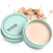 3 Color Translucent Pressed Powder with Puff Smooth Face Makeup Foundation Waterproof Loose PowderSkin Finish Setting Powder(China (Mainland))