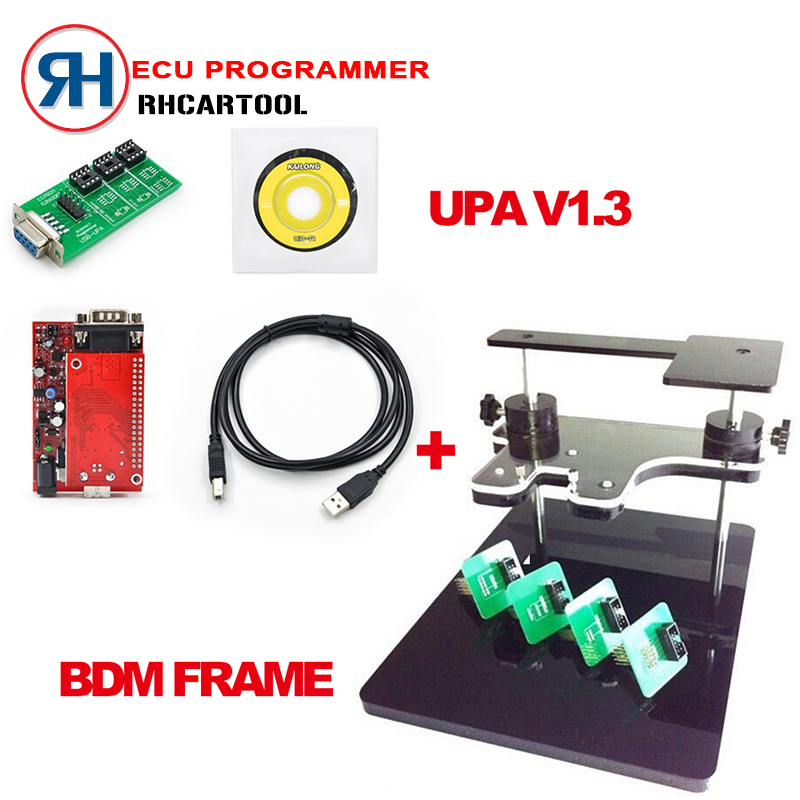 New UPA USB Programmer for Main Unit UPA-USB Programmer V1.3 BDM FRAME with Adapters Set fit for BDM100 programmer CMD bdm frame(China (Mainland))