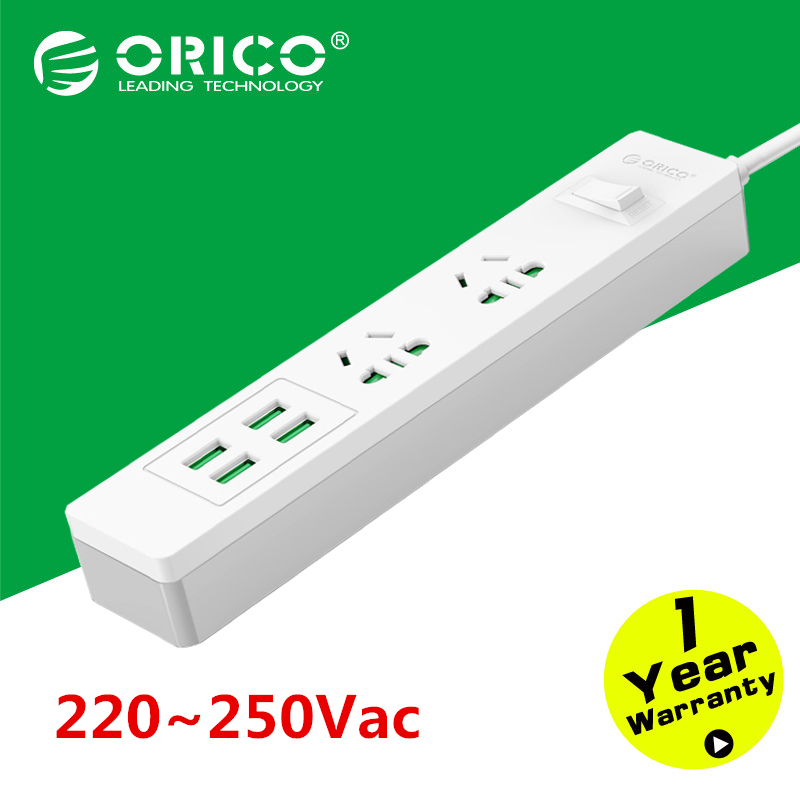 ORICO DPC-2A4U-WH Home Office Surge Protector With USB AC Multi-Outlet Travel Power Strip Beyond Than Xiaomi (White)(China (Mainland))