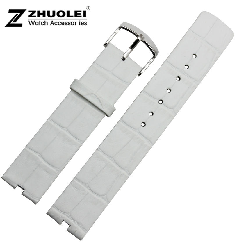 Watch Strap 22mm White Genuine Leather Watch Band For Motorola Moto 360 Smart Watch<br><br>Aliexpress