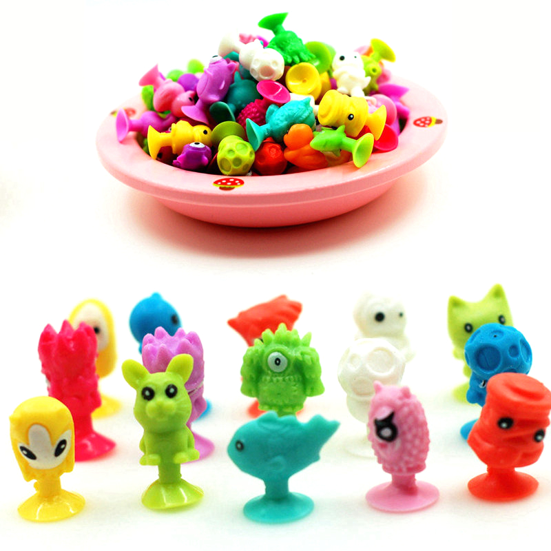 10pcs/lot good Cupule kids Cartoon Animal Action Figures toys Sucker kids Mini Suction Cup Collector Capsule model(China (Mainland))
