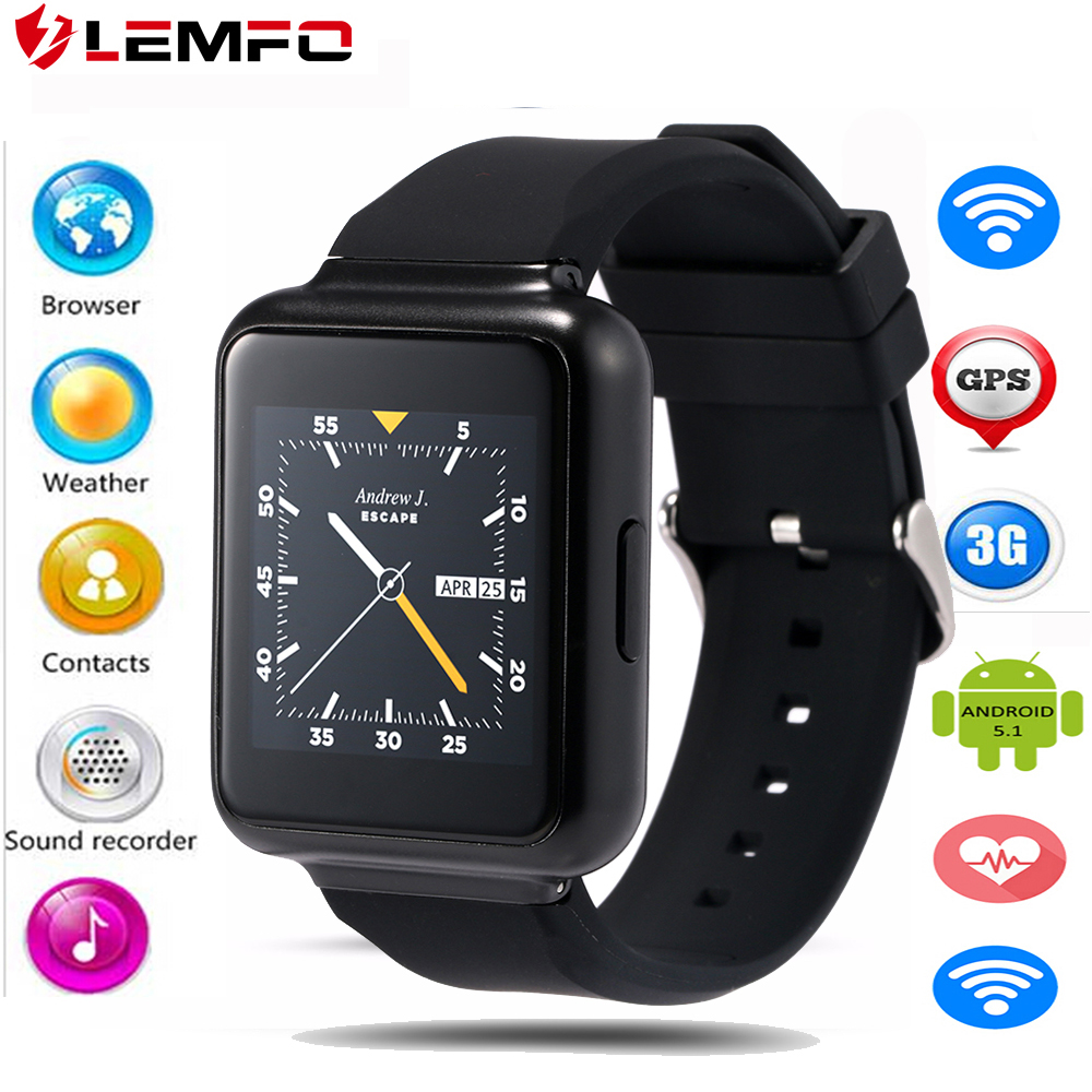 Lemfo Q1 Android 5.1 OS Smart Watch MTK6580 Support Nano SIM card Google app download Voice search 3g wifi Smartwatch Phone(China (Mainland))