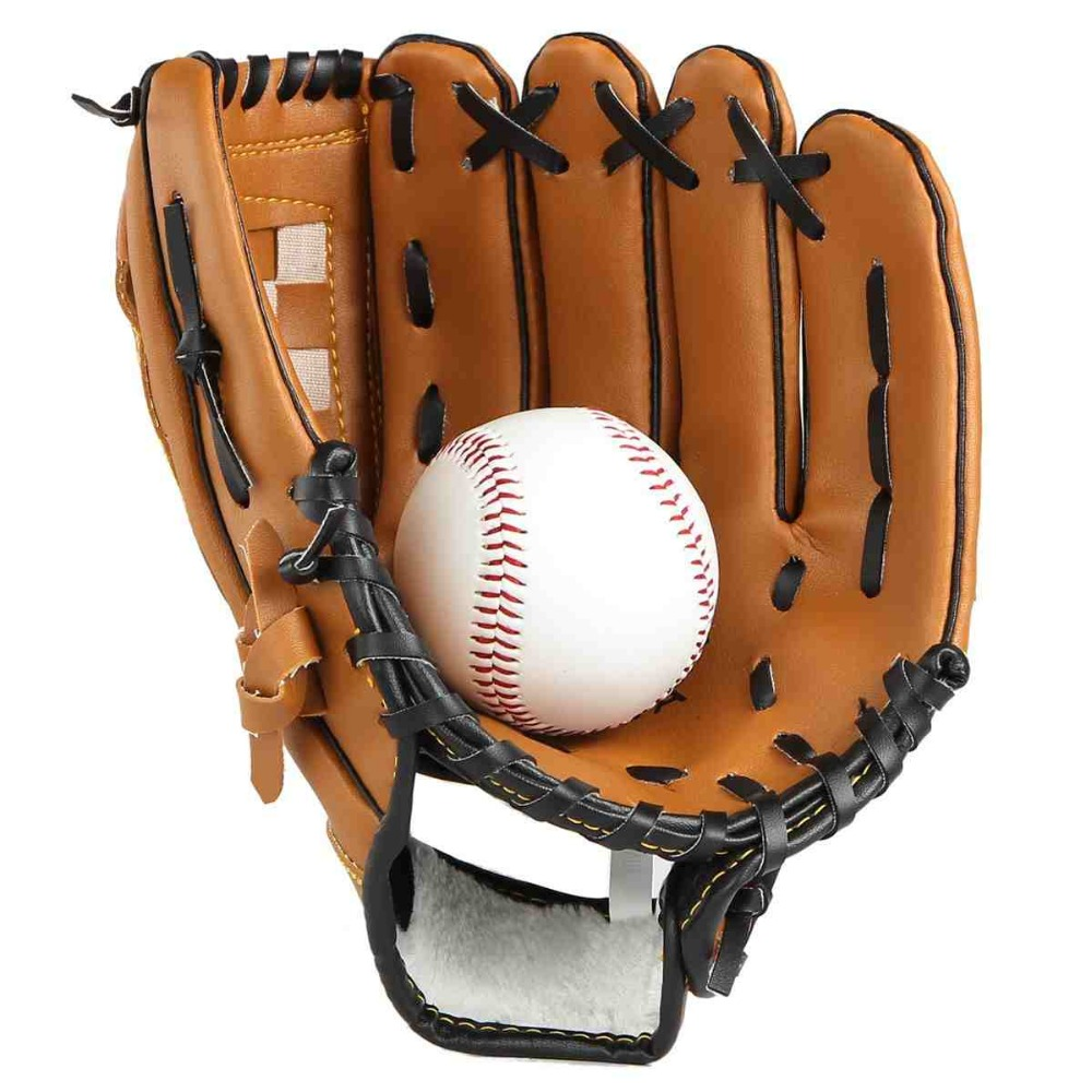 "Baseball Training Practice Gloves Left Hand PVC Artificial Leather 10.5""/11.5""/12.5"" Unisex Pitcher Softball Baseball Glove(China (Mainland))"