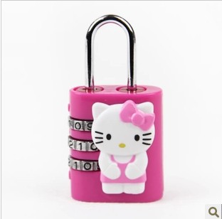 hello kitty cute cartoon luggage locks lock security encryption Colour Pink Red 1