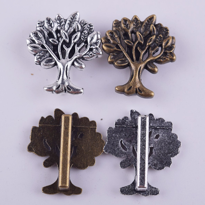 50Pcs/Lot Silver or Bronze Happy Tree Shaped Spacers Beads DIY Jewelry Making Material Findings 2016(China (Mainland))