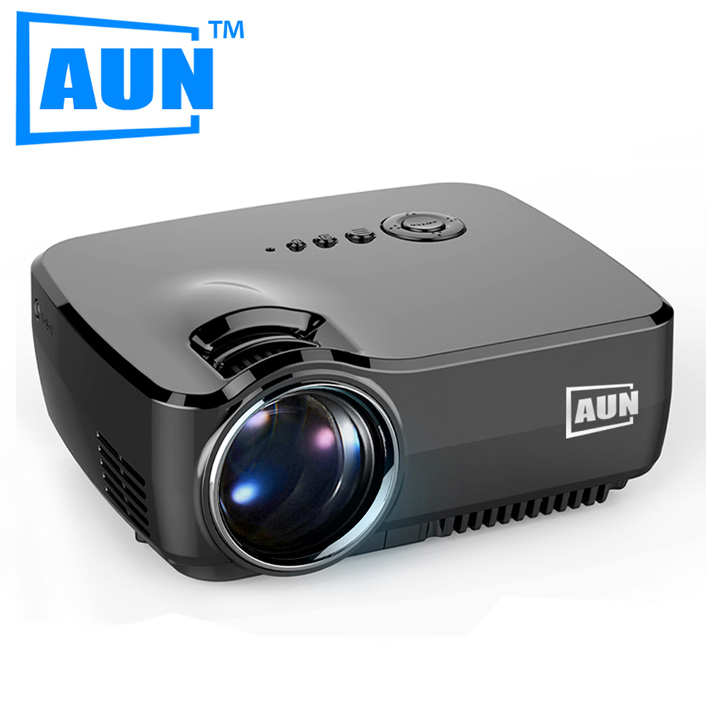 AUN Projector 1200 Lumens Free HDMI Cable Mini Projector Support 1920x1080P LED Projector for Home Cinema ATV Port AM01(China (Mainland))