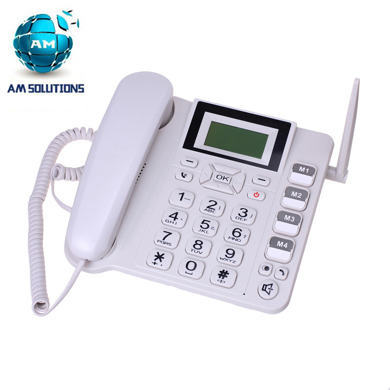 2016 Newest GSM cordless phone 900MHz 1800MHz fixed wireless telephone desktop phone home office telephone(China (Mainland))